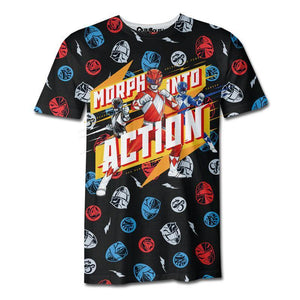 Playera Pijama Power Rangers Action - QUIUBOLEE