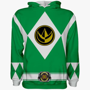 Sudadera Power Rangers Verde Original
