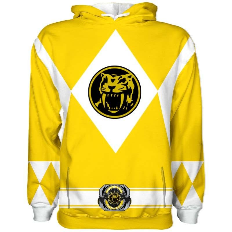 Sudadera Power Rangers Amarilla Original