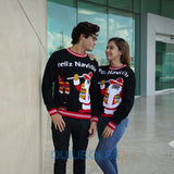 Ugly Christmas Sweater Santa Claus Tacos