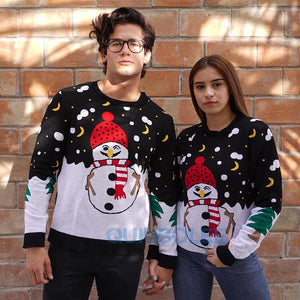 Ugly Christmas Sweater Santa Mono Nieve