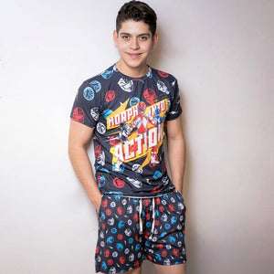 Short Pijama Power Ranger Action - QUIUBOLEE