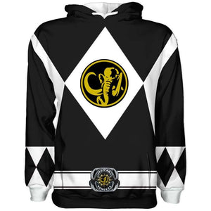Sudadera Power Rangers Negra Original