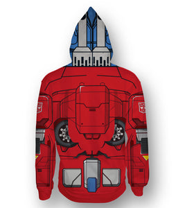 Sudadera Transformers Optimus Prime Zipper Completo