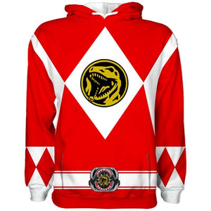 Sudadera Power Rangers Roja Original
