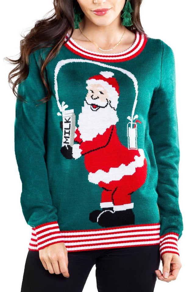 Christmas Sweater Santa Leche