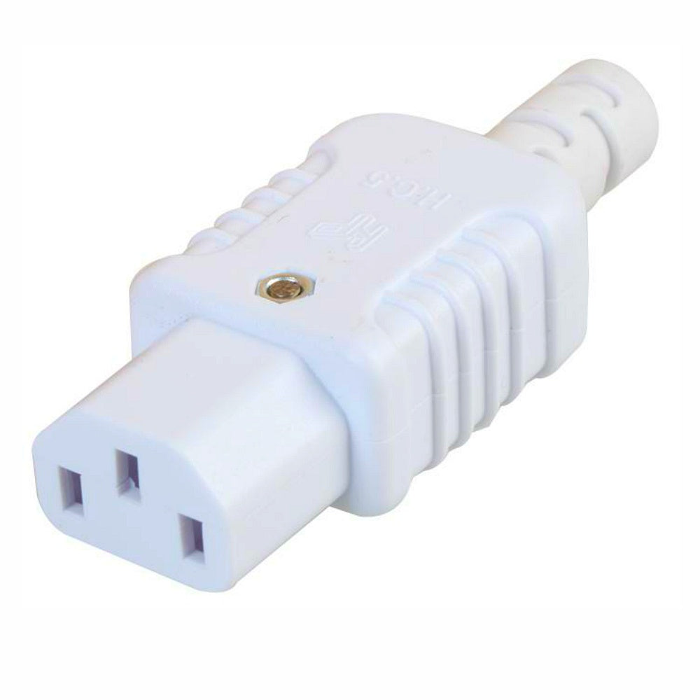 Heavy Duty White IEC Female Socket-Connectors-DJ Supplies Ltd