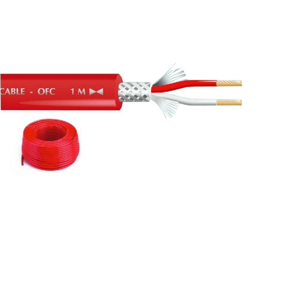 Microphone Cable Red 50m-Cable-DJ Supplies Ltd