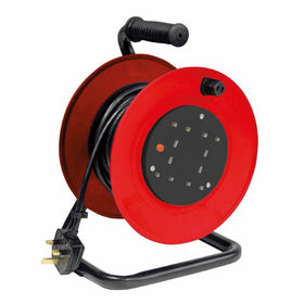 15m 4 Way Extension Reel-Cable Accesories-DJ Supplies Ltd