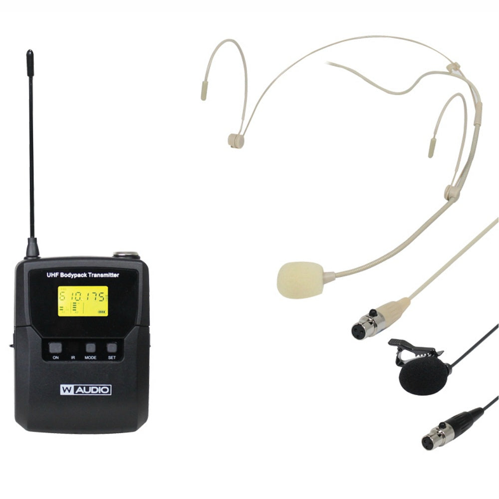 W Audio DQM 600BP Add On Belt Pack Kit-Wireless Microphones-DJ Supplies Ltd