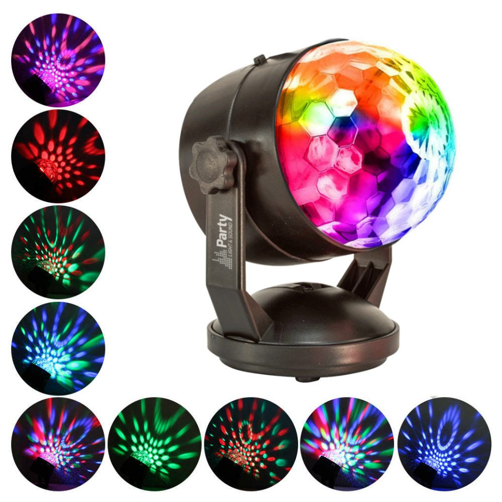Kidz Disco RGB Crystal Party Ball-Lighting-DJ Supplies Ltd