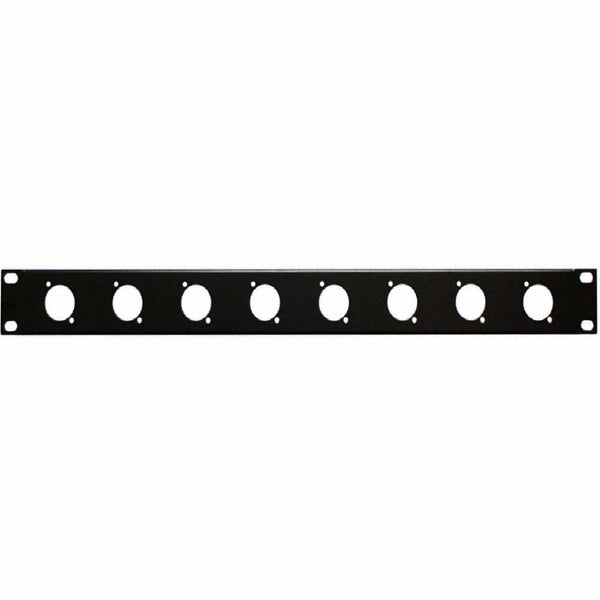 1U Punched Rack Plate 8x D Type-Rack Parts-DJ Supplies Ltd