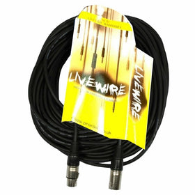 20m Livewire Black XLR to XLR Balanced-Signal Leads-DJ Supplies Ltd