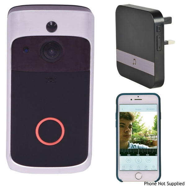 Smart WiFi HD Video Doorbell With WiFi Door Chime-Accessories-DJ Supplies Ltd