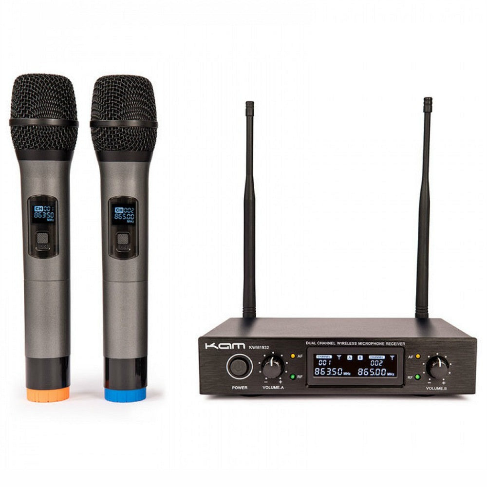 KAM KWM1932 Dual Hand Wireless Microphones-Wireless Microphones-DJ Supplies Ltd