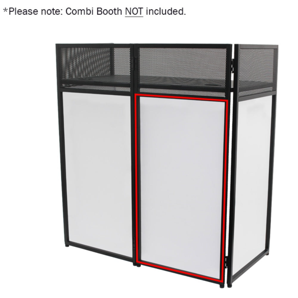 Combi Booth Replacement White Scrim-DJ Stands-DJ Supplies Ltd