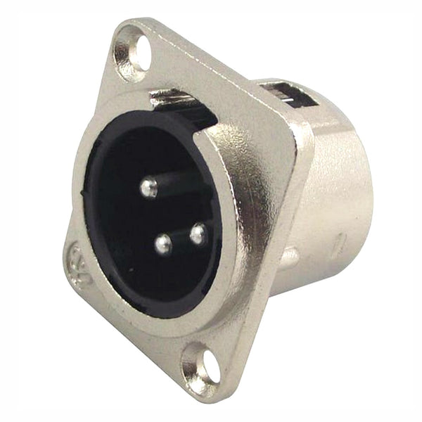 XLR Male Chassis Connector-Connectors-DJ Supplies Ltd