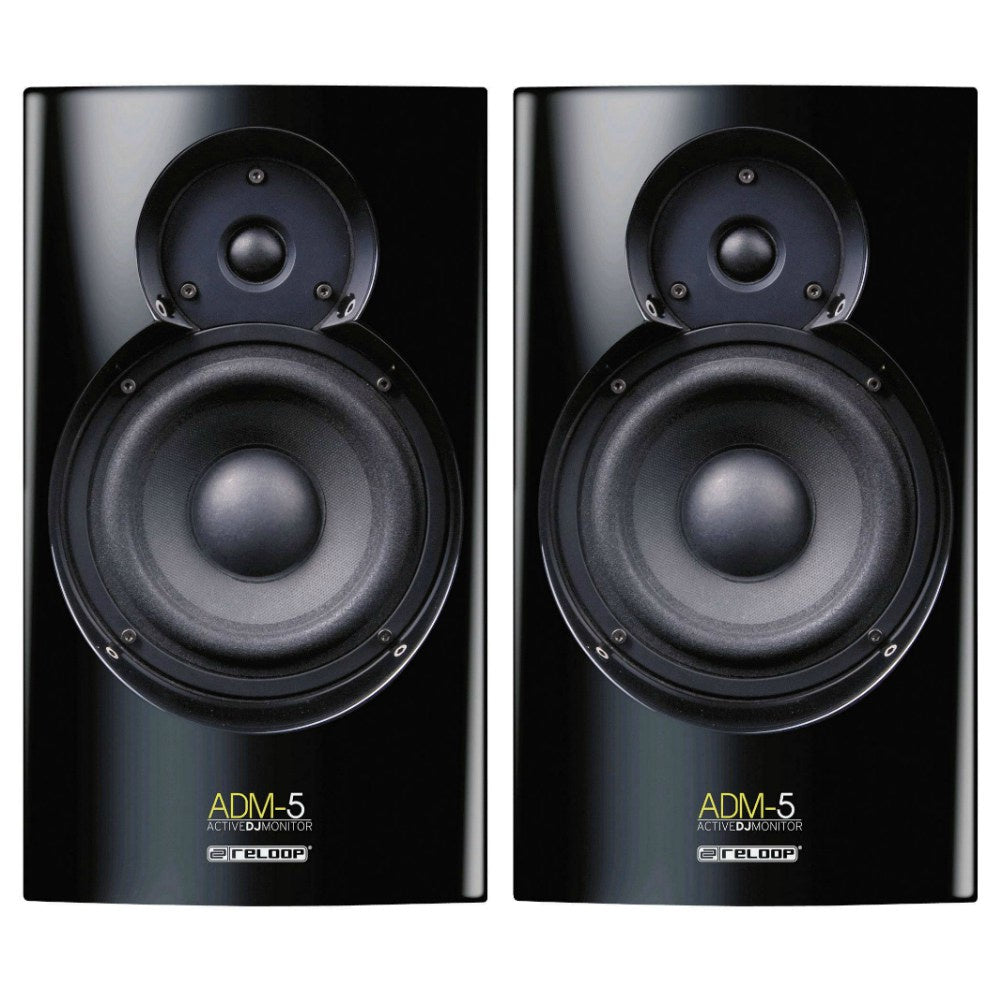 Reloop ADM-5 60w DJ Studio Monitors-Active Speakers-DJ Supplies Ltd