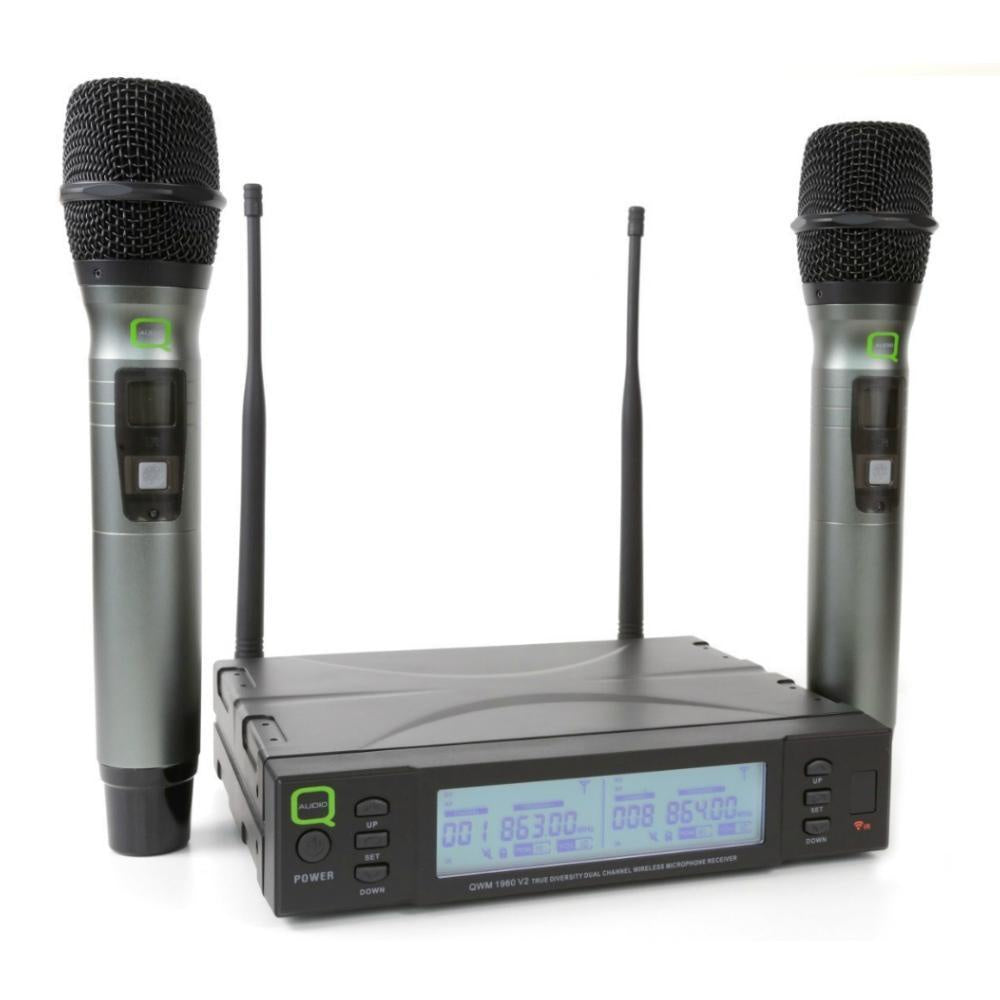 Q Audio QWM1960HH V2 Dual Wireless Microphones-Wireless Microphones-DJ Supplies Ltd