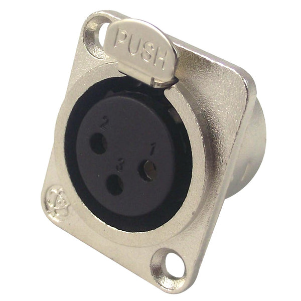 XLR Female Chassis Connector-Connectors-DJ Supplies Ltd