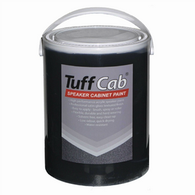 Black Tuff Cab Speaker Paint 5Kg-Speaker Accessories-DJ Supplies Ltd