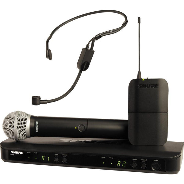 BLX1288/PGA31 Wireless Combo With PG58 Handheld and PGA31 Headset-Wireless Microphones-DJ Supplies Ltd