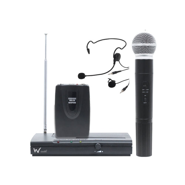 W Audio RM05 Wireless Microphone Kit-Wireless Microphones-DJ Supplies Ltd