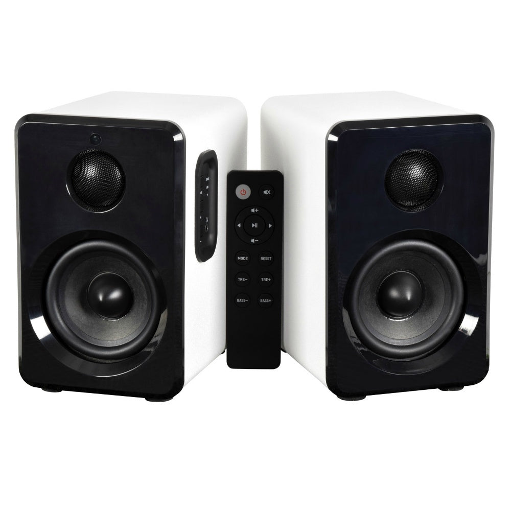 Bluetooth Active Monitor Speaker Set White-Active Speakers-DJ Supplies Ltd