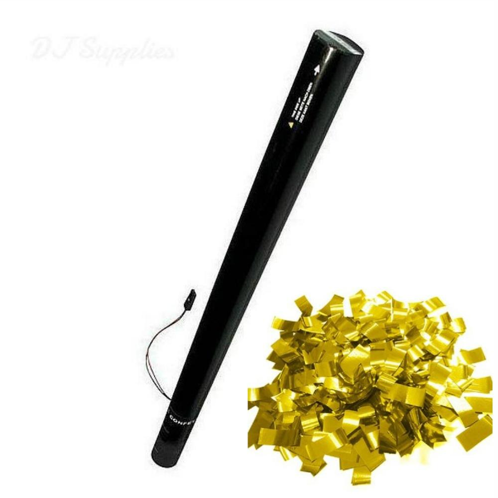 Electric Confetti Cannon 80cm Gold Metallic-Special Effects-DJ Supplies Ltd