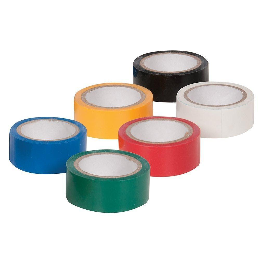 Electrical Tape 6 Colour Pack-Cable Accesories-DJ Supplies Ltd