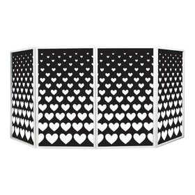 Equinox Foldable DJ Screen Mk2 Hearts-Stand Accessories-DJ Supplies Ltd