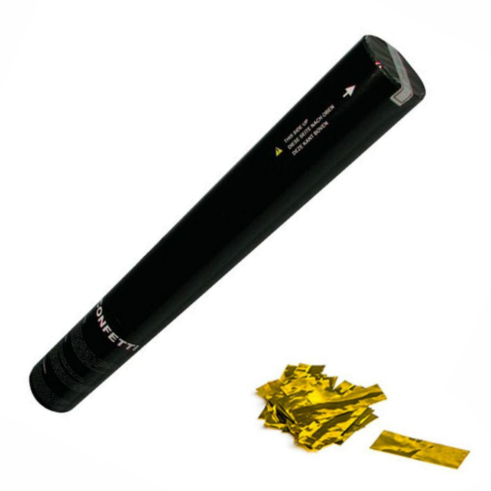 Hand Held Confetti Cannon 50cm Gold-Party Accessories-DJ Supplies Ltd