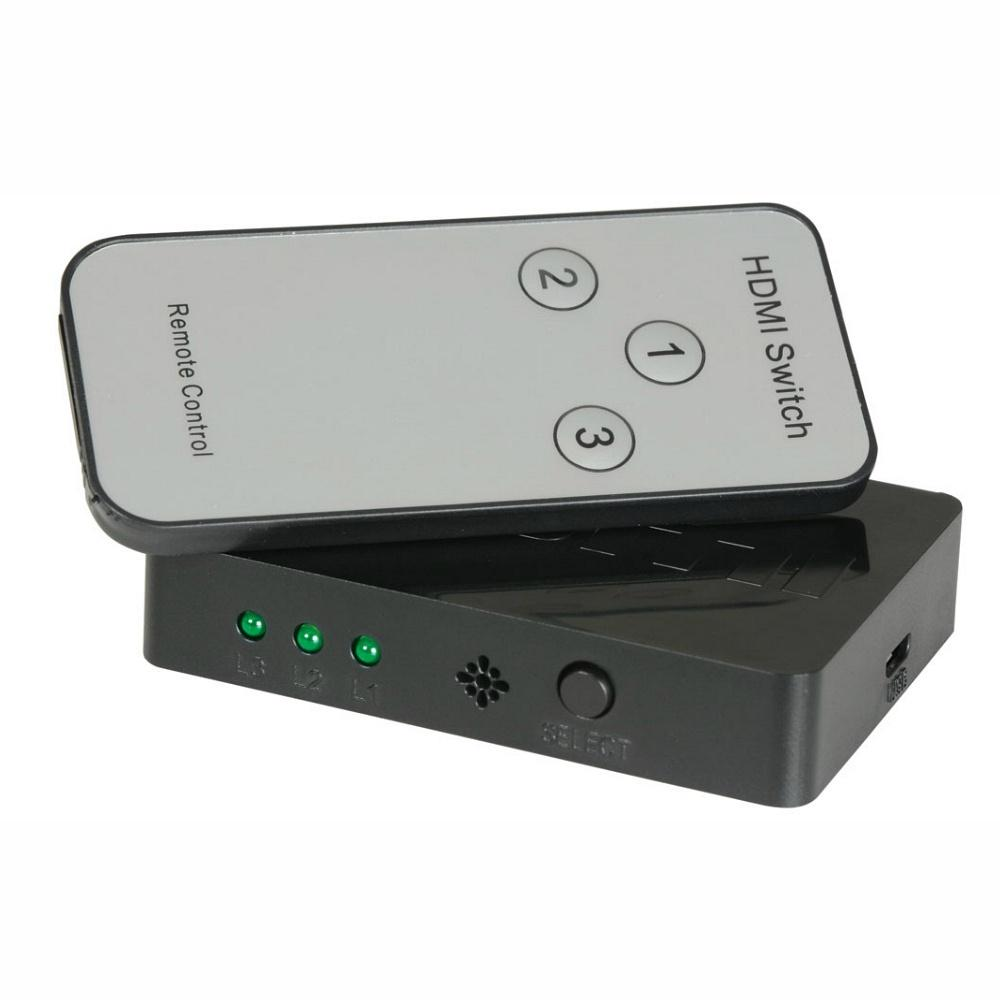 HDMI Switch 3 Way With Remote-Cable Accesories-DJ Supplies Ltd