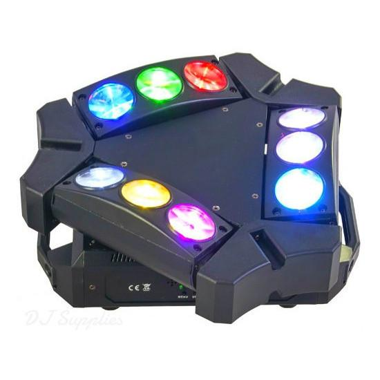 Ibiza 9 Beam Mini Spider Light-Lighting-DJ Supplies Ltd