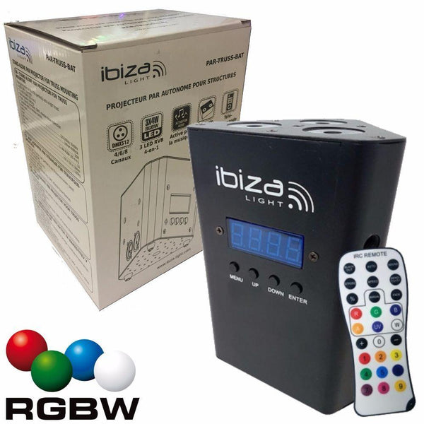 Ibiza Rechargeable Battery Uplighter-Lighting-DJ Supplies Ltd