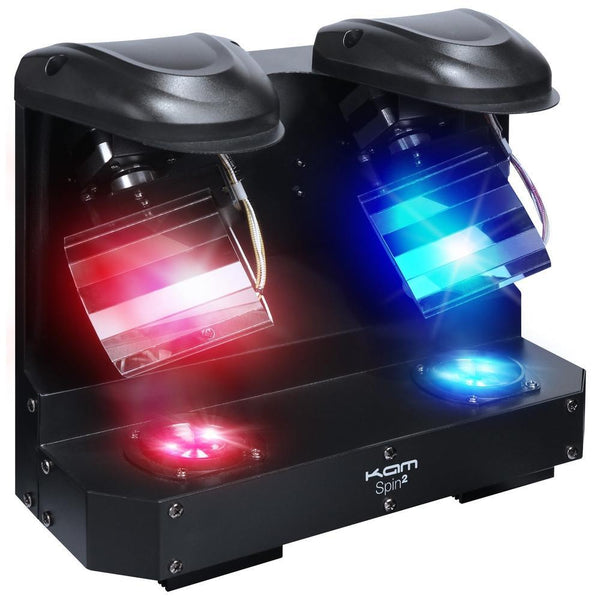 KAM Spin2 Twin Barrel Light EX DEMO-Lighting-DJ Supplies Ltd