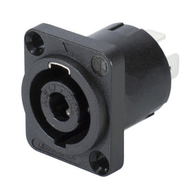 Neutrik Speakon Socket 4 Pole NL4MP-Connectors-DJ Supplies Ltd
