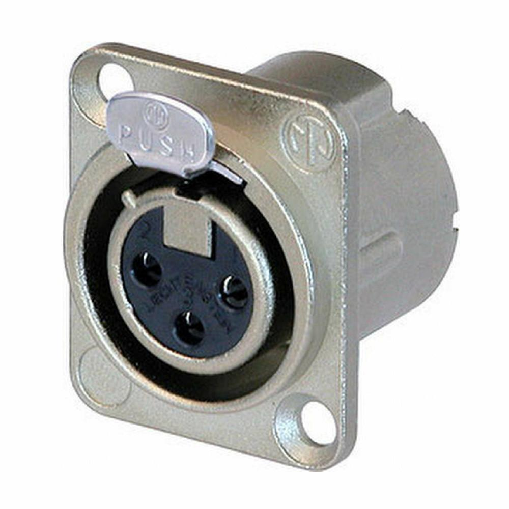 Neutrik XLR Female Chassis Connector-Connectors-DJ Supplies Ltd