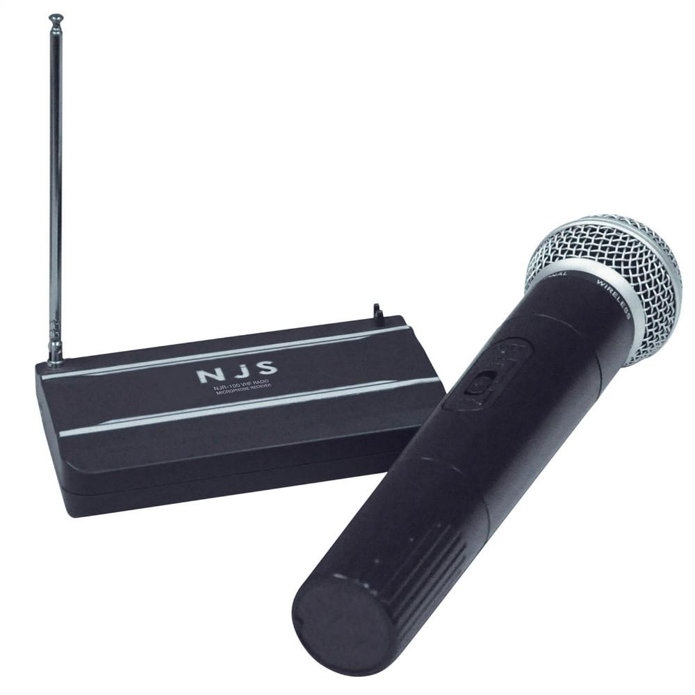 NJS Wireless VHF Microphone-Wireless Microphones-DJ Supplies Ltd