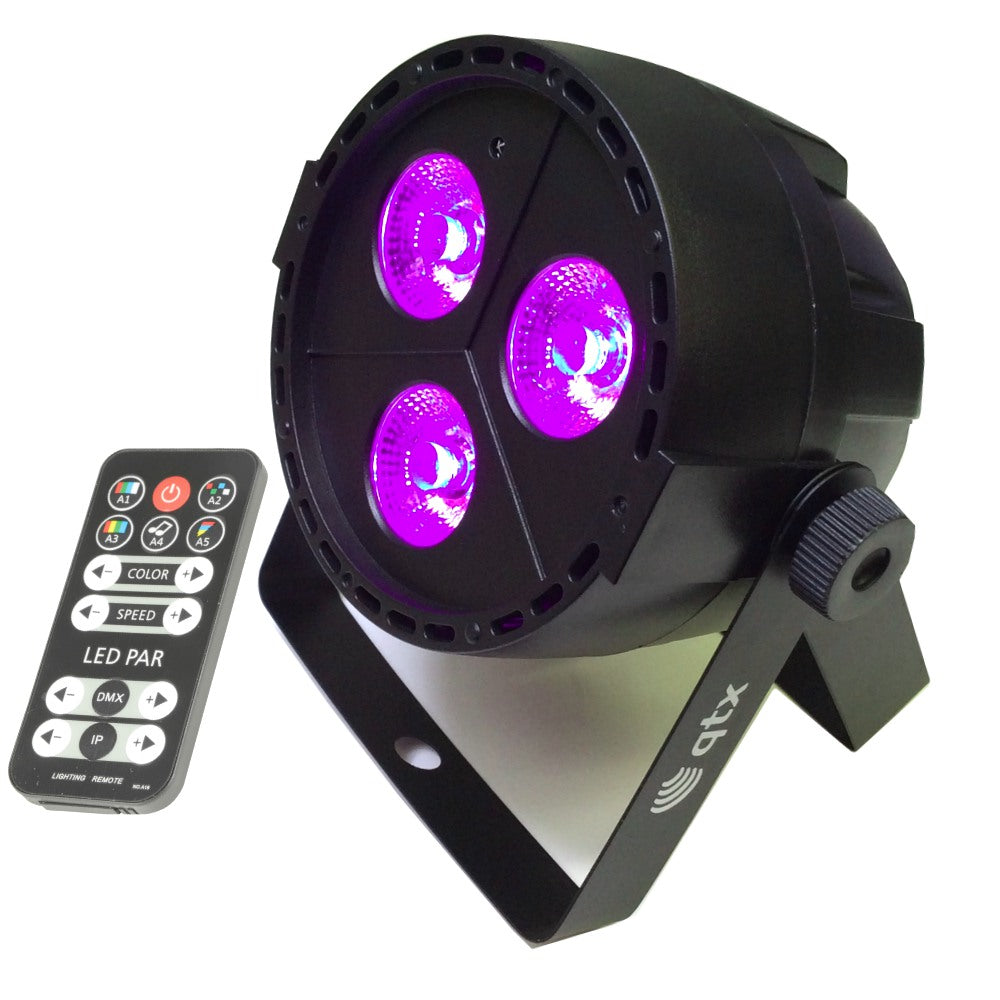 RGBW LED PAR With Remote 3 x 4W-Lighting-DJ Supplies Ltd