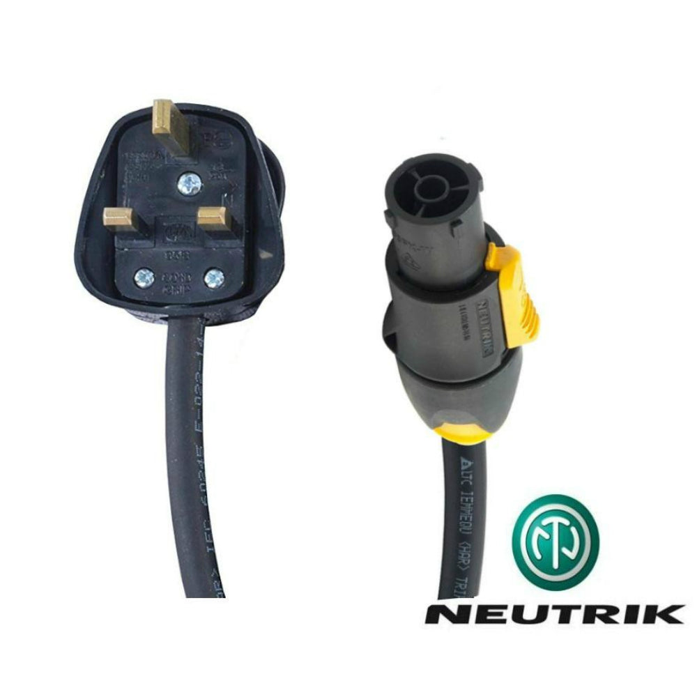 Neutrik PowerCON TRUE 1 Lead to 13A Plug-Power Leads-DJ Supplies Ltd