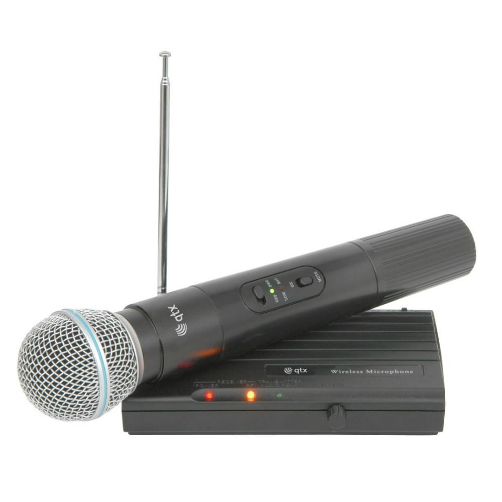 QTX Wireless Handheld VHF Microphone-Wireless Microphones-DJ Supplies Ltd