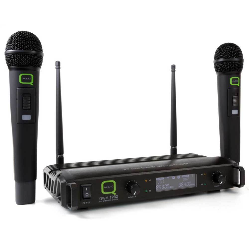QWM1932HH v2 Dual Wireless Microphones-Wireless Microphones-DJ Supplies Ltd