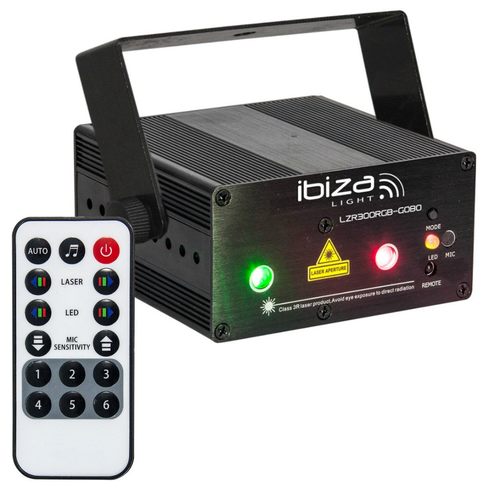 Ibiza LZR300RGB Cluster Laser with Gobos-Lighting-DJ Supplies Ltd
