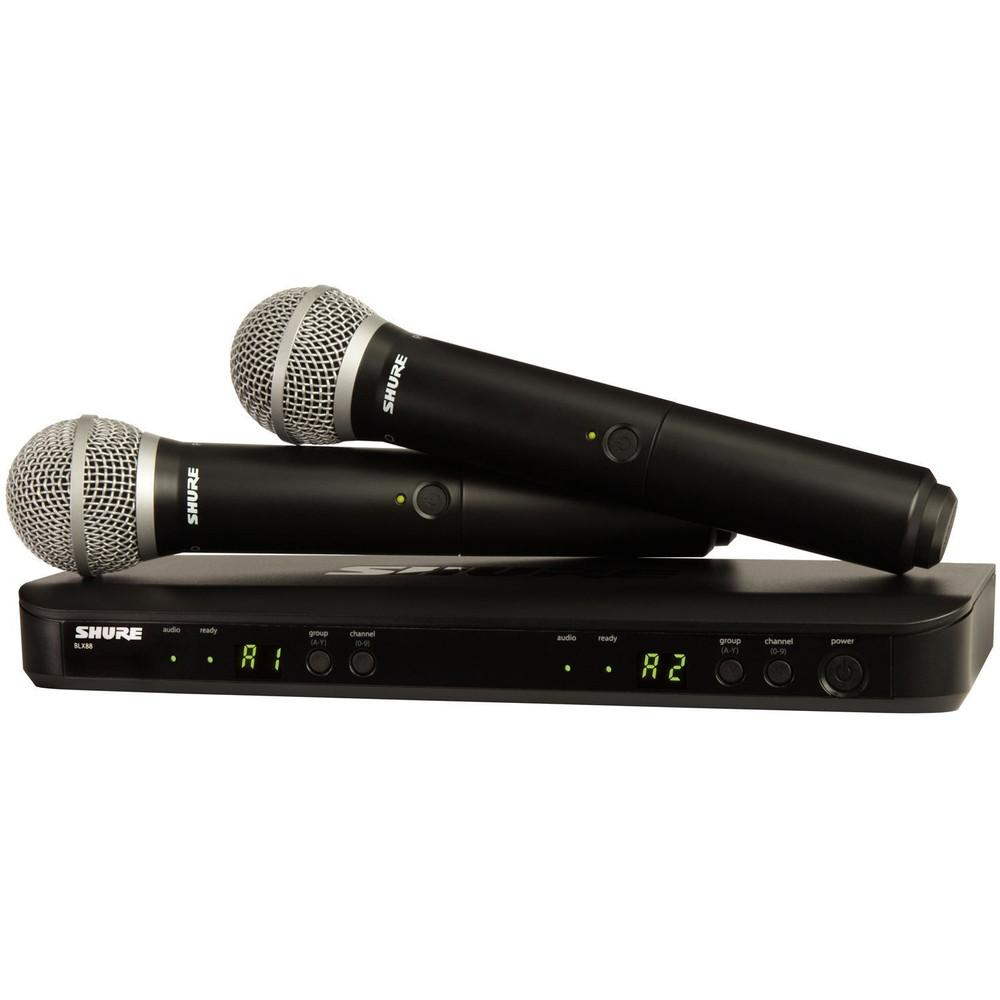 Shure BLX288 PG58 Dual Wireless Microphones-Wireless Microphones-DJ Supplies Ltd