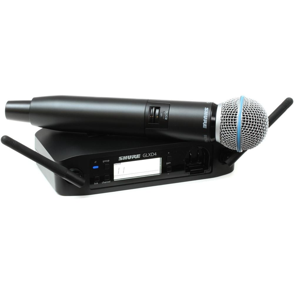 Shure GLXD24 Beta 58A Digital Wireless Microphone-Wireless Microphones-DJ Supplies Ltd