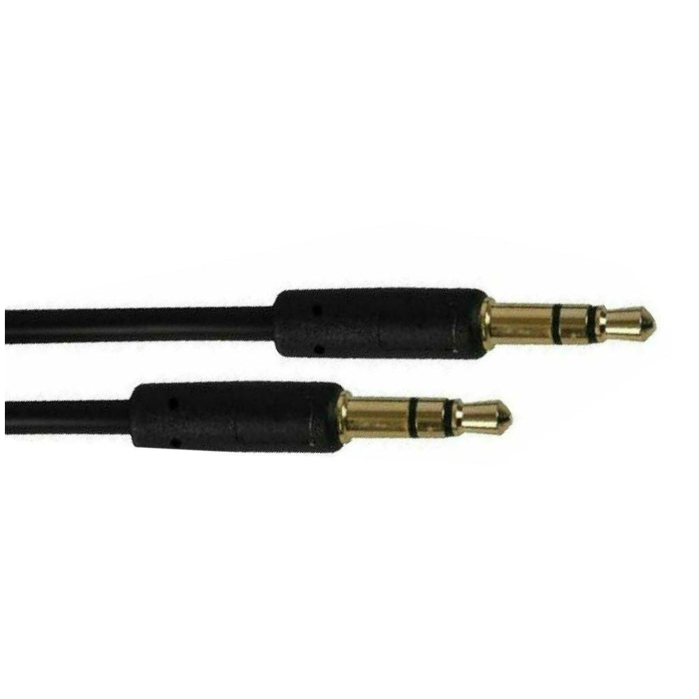 Slim 3.5mm Stereo Jack Lead 1.5m-Signal Leads-DJ Supplies Ltd