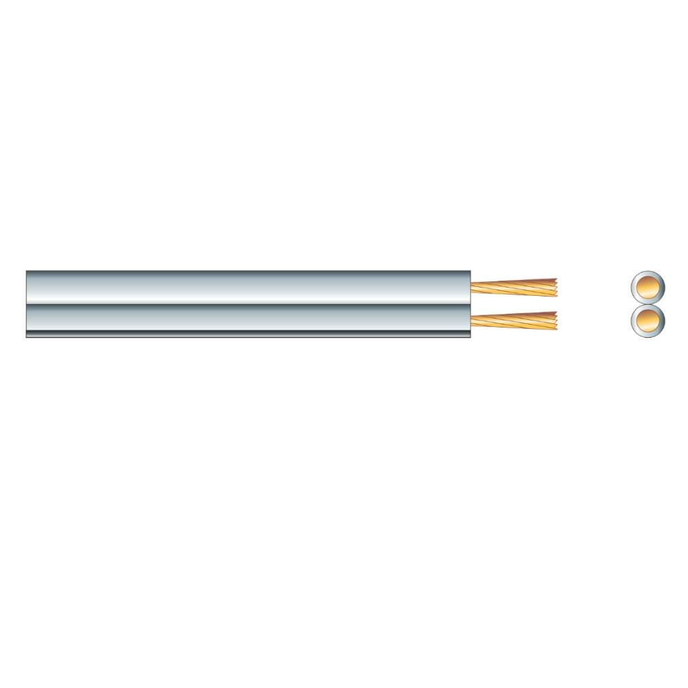 Speaker Cable Fig 8 White 42x0.15 Per M-Cable-DJ Supplies Ltd