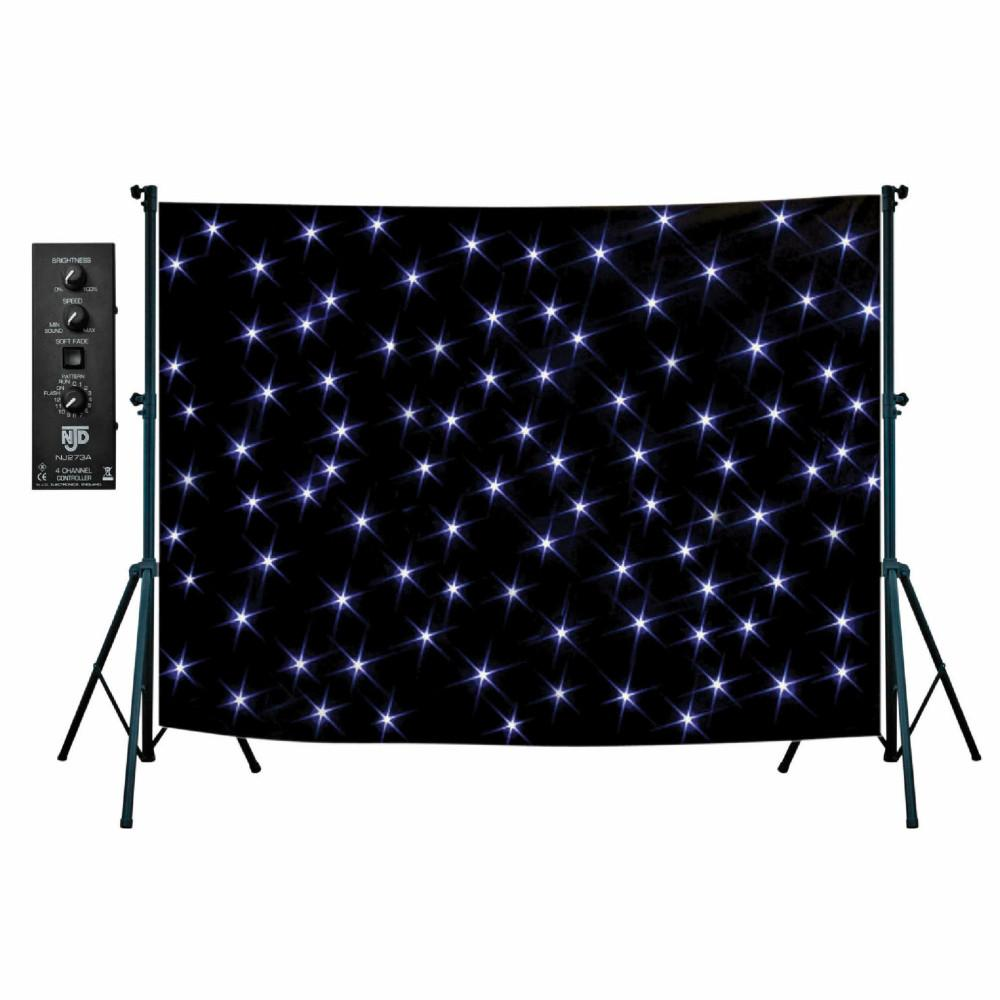 Starcloth NJD 3m x 2m Black-Lighting-DJ Supplies Ltd