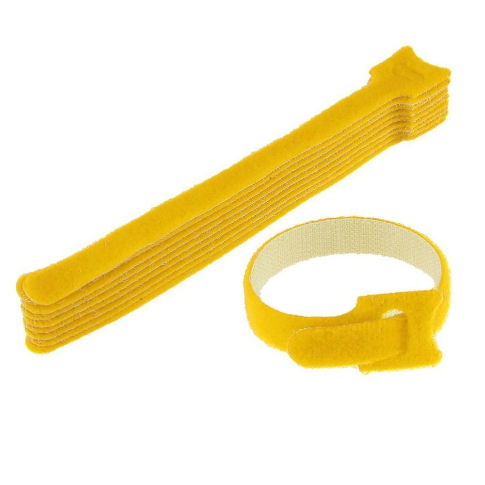 Velcro Cable Ties Yellow 200 x 16mm-Accessories-DJ Supplies Ltd